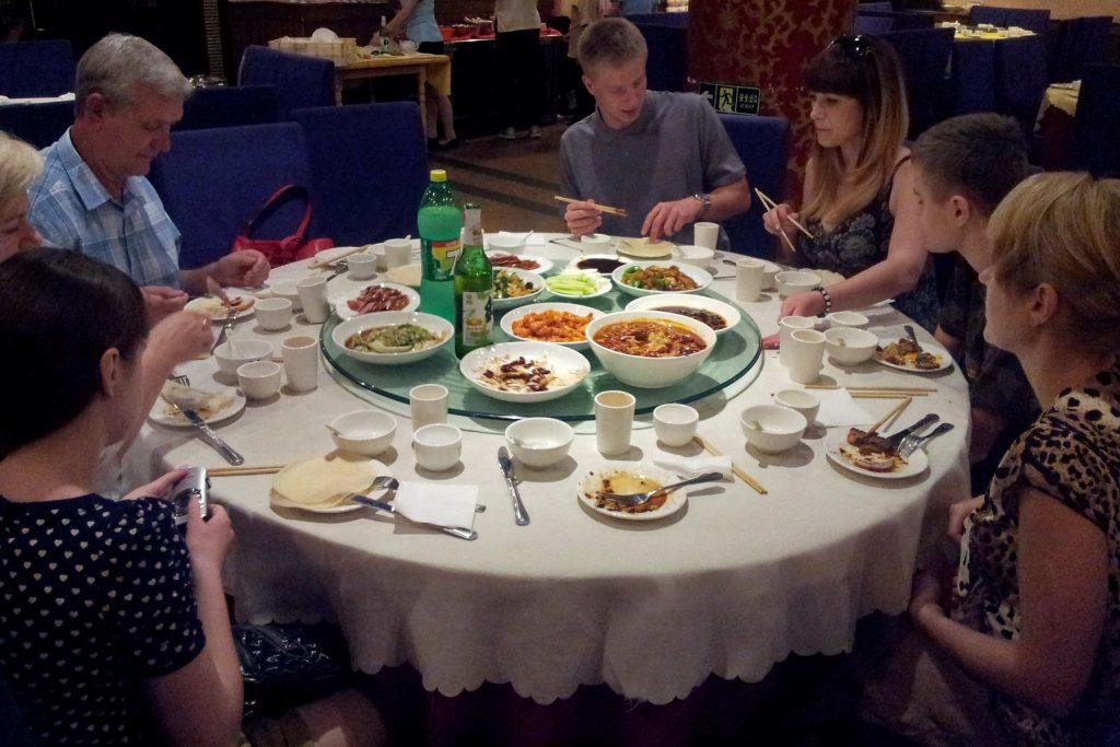 Karuzela i chińskie jedzenia