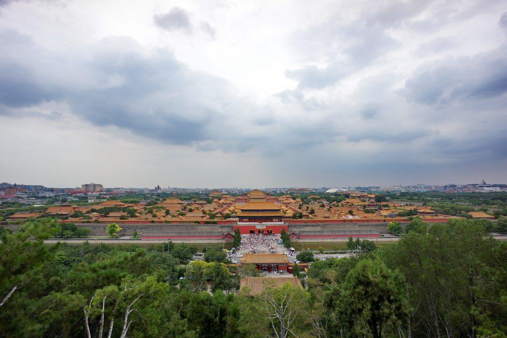 Widokj z parku Jingshan na Zakazane Miasto