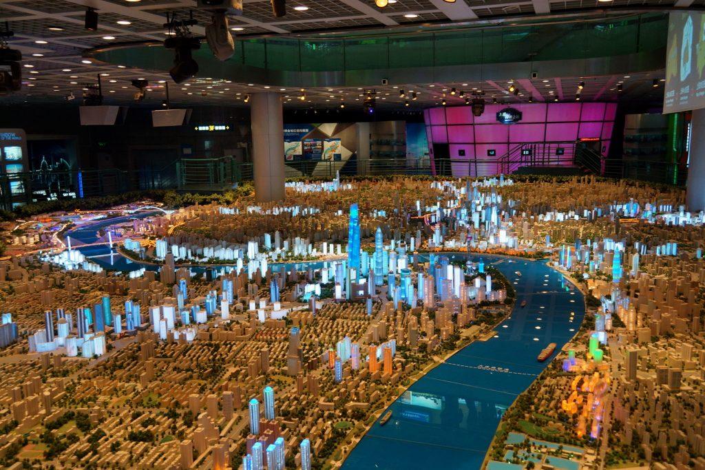 Muzeum Urbanistyczne - makieta Szanghaju