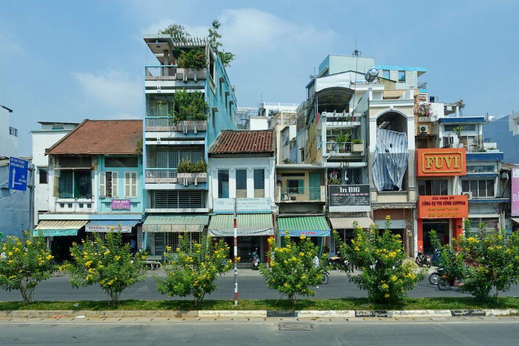 Charakterystyczne wietnamskie domy