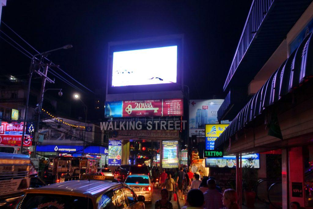 Wejście na Walking Street